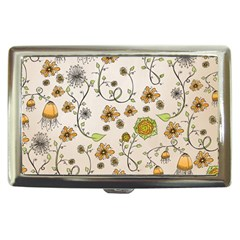 Yellow Whimsical Flowers  Cigarette Money Case