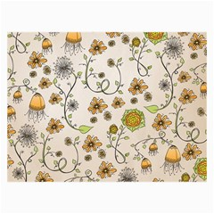 Yellow Whimsical Flowers  Canvas 36  x 48  (Unframed)