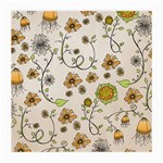 Yellow Whimsical Flowers  Glasses Cloth (Medium) Front