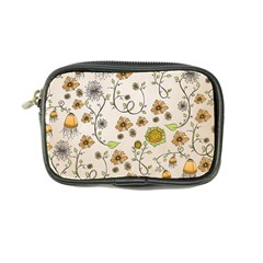 Yellow Whimsical Flowers  Coin Purse