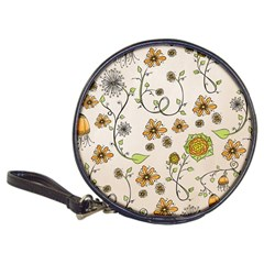 Yellow Whimsical Flowers  Cd Wallet