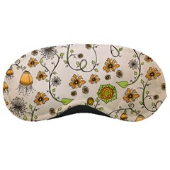 Yellow Whimsical Flowers  Sleeping Mask