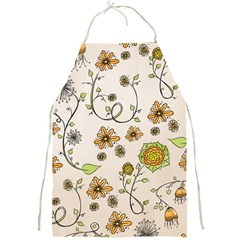 Yellow Whimsical Flowers  Apron