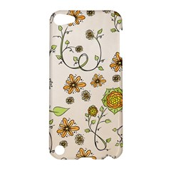 Yellow Whimsical Flowers  Apple Ipod Touch 5 Hardshell Case