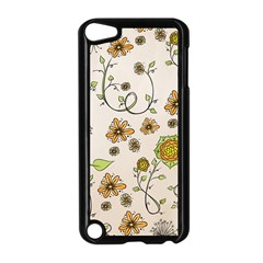 Yellow Whimsical Flowers  Apple Ipod Touch 5 Case (black)