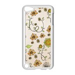 Yellow Whimsical Flowers  Apple iPod Touch 5 Case (White) Front