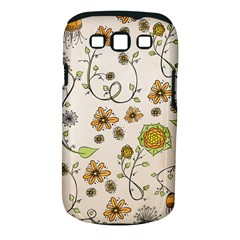 Yellow Whimsical Flowers  Samsung Galaxy S III Classic Hardshell Case (PC+Silicone)