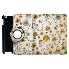 Yellow Whimsical Flowers  Apple iPad 3/4 Flip 360 Case