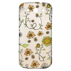 Yellow Whimsical Flowers  Samsung Galaxy S3 S Iii Classic Hardshell Back Case