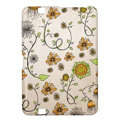 Yellow Whimsical Flowers  Kindle Fire HD 8.9  Hardshell Case