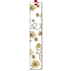 Yellow Whimsical Flowers  Large Bookmark