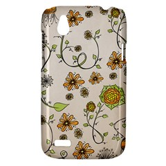 Yellow Whimsical Flowers  HTC Desire V (T328W) Hardshell Case