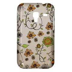 Yellow Whimsical Flowers  Samsung Galaxy Ace Plus S7500 Hardshell Case