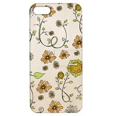 Yellow Whimsical Flowers  Apple Iphone 5 Hardshell Case With Stand