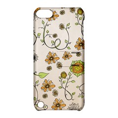 Yellow Whimsical Flowers  Apple iPod Touch 5 Hardshell Case with Stand