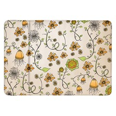 Yellow Whimsical Flowers  Samsung Galaxy Tab 8 9  P7300 Flip Case