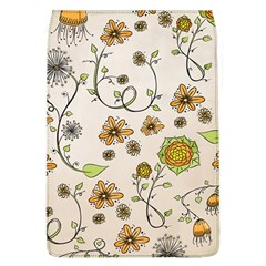 Yellow Whimsical Flowers  Removable Flap Cover (Large)
