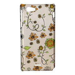 Yellow Whimsical Flowers  Sony Xperia J Hardshell Case