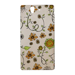 Yellow Whimsical Flowers  Sony Xperia Z (L36H) Hardshell Case