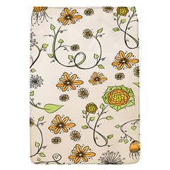 Yellow Whimsical Flowers  Removable Flap Cover (Small)