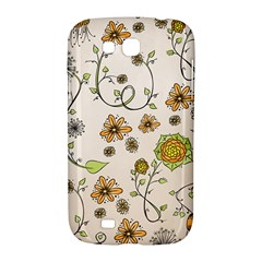 Yellow Whimsical Flowers  Samsung Galaxy Grand GT-I9128 Hardshell Case