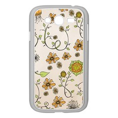 Yellow Whimsical Flowers  Samsung Galaxy Grand Duos I9082 Case (white)