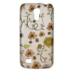 Yellow Whimsical Flowers  Samsung Galaxy S4 Mini (gt I9190) Hardshell Case