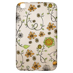 Yellow Whimsical Flowers  Samsung Galaxy Tab 3 (8 ) T3100 Hardshell Case