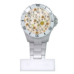 Yellow Whimsical Flowers  Nurses Watch