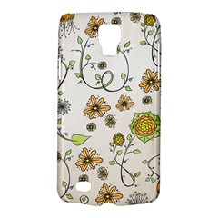 Yellow Whimsical Flowers  Samsung Galaxy S4 Active (I9295) Hardshell Case