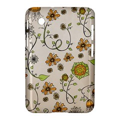 Yellow Whimsical Flowers  Samsung Galaxy Tab 2 (7 ) P3100 Hardshell Case