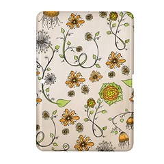 Yellow Whimsical Flowers  Samsung Galaxy Tab 2 (10.1 ) P5100 Hardshell Case