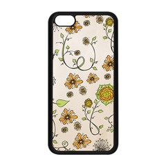Yellow Whimsical Flowers  Apple iPhone 5C Seamless Case (Black)