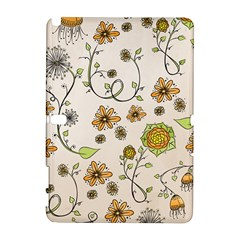 Yellow Whimsical Flowers  Samsung Galaxy Note 10.1 (P600) Hardshell Case
