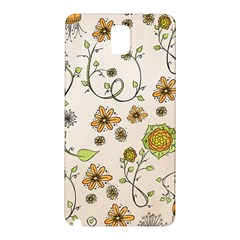 Yellow Whimsical Flowers  Samsung Galaxy Note 3 N9005 Hardshell Back Case