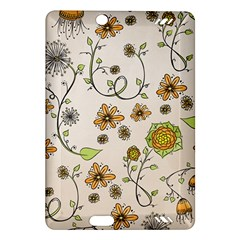 Yellow Whimsical Flowers  Kindle Fire Hd 7  (2nd Gen) Hardshell Case
