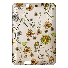 Yellow Whimsical Flowers  Kindle Fire HDX 7  Hardshell Case