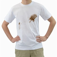 Sandy the Lion Men s T-Shirt (White)