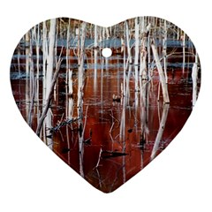 Automn Swamp Heart Ornament