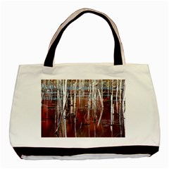 Automn Swamp Twin-sided Black Tote Bag