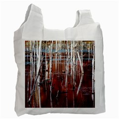 Automn Swamp White Reusable Bag (Two Sides)