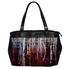 Automn Swamp Oversize Office Handbag (One Side)