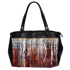 Automn Swamp Oversize Office Handbag (Two Sides)