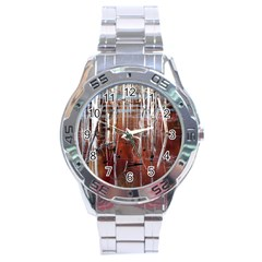 Automn Swamp Stainless Steel Watch