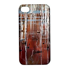 Automn Swamp Apple Iphone 4/4s Hardshell Case With Stand
