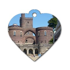 Helsingborg Castle Dog Tag Heart (Two Sided)