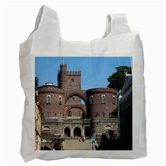 Helsingborg Castle White Reusable Bag (Two Sides)