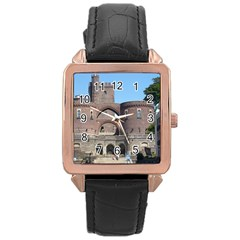 Helsingborg Castle Rose Gold Leather Watch