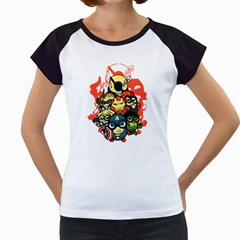 Despicable Avengers Women s Cap Sleeve T Shirt (white)