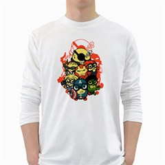 Despicable Avengers Men s Long Sleeve T Shirt (white)